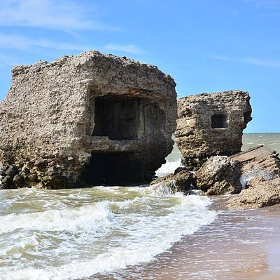 Ruins Mixed Media - Fortress Ruins In The Sea by Gynt