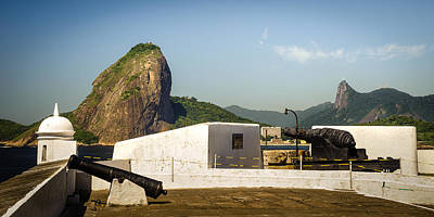 Photograph - Fortress With Sugarloaf Mountain by Celso Diniz