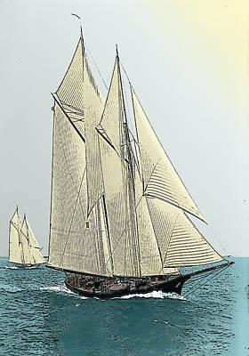 Photograph - Fortuna - Schooner Yacht by Jonah Gibson