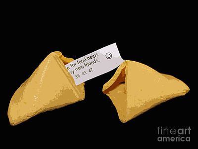 Photograph - Fortune Cookie On Black by Nina Silver