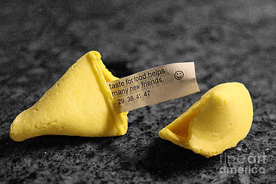 Photograph - Fortune Cookie On Marble by Nina Silver