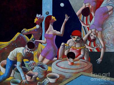 Potters Clay Painting - Fortune Sellers by Paul Hilario