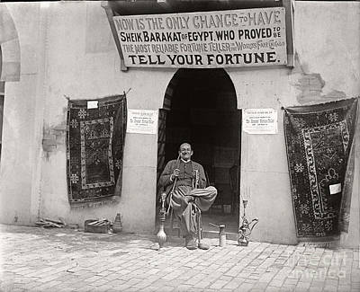 Print featuring the photograph Fortune Teller San Francisco Exposition 1894 by Martin Konopacki Restoration