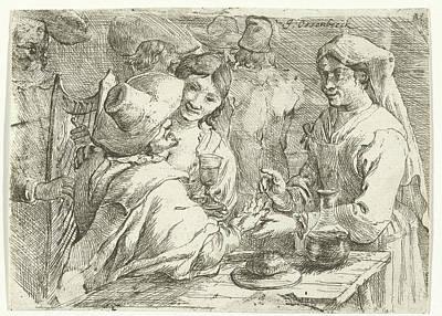 Fortune Teller With A Customer, Jan Van Ossenbeeck Art Print