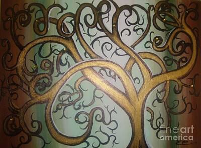 Fortune Tree Art Print by Elena  Constantinescu