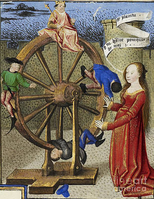 Fortune Turning The Wheel Print by Getty Research Institute