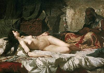 Odalisque Photograph - Fortuny, Mariano 1838-1874. Odalisque by Everett
