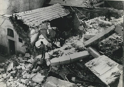 Forty Dead In Flats Collapse In Italy Art Print by Retro Images Archive