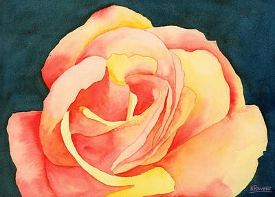 Painting - Forty-five Minute Rose by Ken Powers