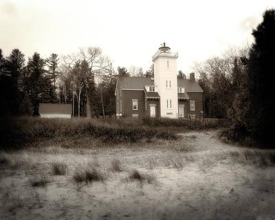 Photograph - Forty Mile Point Light by Scott Hovind