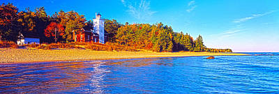 Forty Mile Point Lighthouse Art Print by Panoramic Images