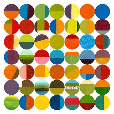 Forty Nine Circles 2.0 Art Print