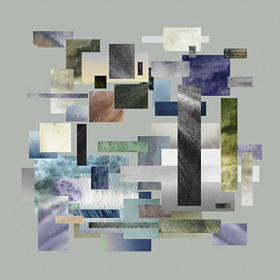 Fifty Shades Of Grey Painting - Forty Nine Shades Of Gray I by Irina Sztukowski