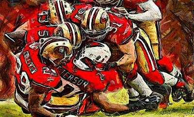 Forty Niners Art Print by Carrie OBrien Sibley
