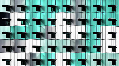 Teal Wall Art - Photograph - Forty Windows by Wayne Pearson