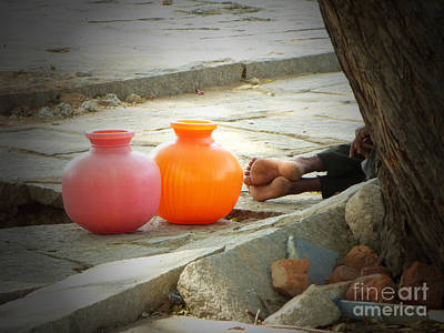 Photograph - Forty Winks And Two Pots by Neville Bulsara