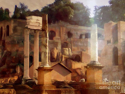 Photograph - Forum Romanum by Lutz Baar