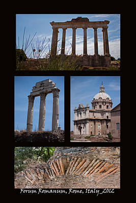 Temple Of Castor And Pollux Photograph - Forum Romanun by Ivete Basso Photography