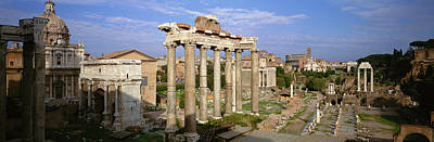 Corinthian Photograph - Forum, Rome, Italy by Panoramic Images