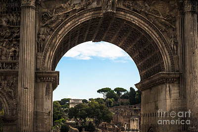 Photograph - Forum Through The Arch by Prints of Italy