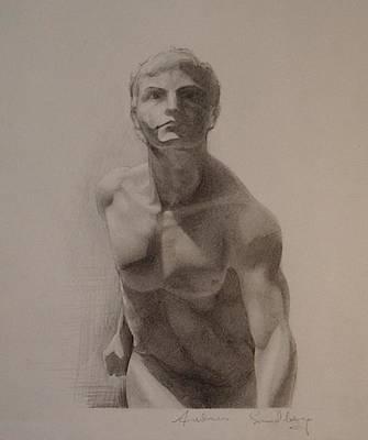 Drawing - Forward Figure by Andrew Sandberg