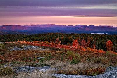Autumn Scene Photograph - Foss Mountain Sunrise Eaton Nh by Jeff Sinon