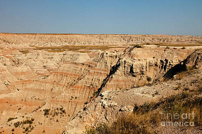 Fossil Exhibit Trail Badlands National Park Art Print