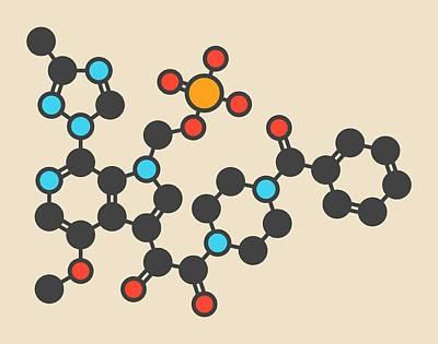 Fostemsavir Hiv Virus Drug Molecule Art Print by Molekuul