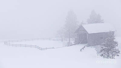 Photograph - Foster Bridge In Snowstorm by Alan L Graham