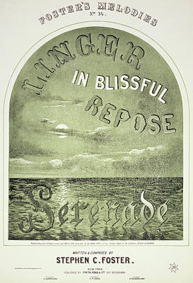 Blissful Painting - Foster Song Sheet, 1858 by Granger