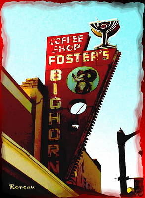 Photograph - Foster's Bighorn Cafe by Sadie Reneau
