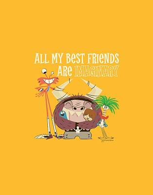 Imaginary Friend Digital Art - Foster's - Imaginary Friends by Brand A