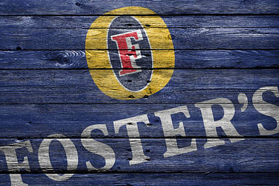Handcrafted Photograph - Fosters by Joe Hamilton
