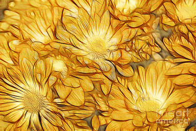 Daisies Digital Art - Foulee De Petales - Tuy33b by Variance Collections