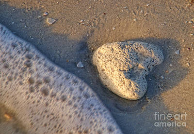 Art Print featuring the photograph Found Heart by Peggy Hughes