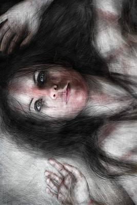 Windblown Painting - Found Her Freedom by Justin Gedak