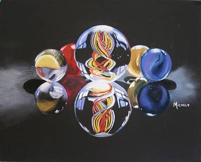 Pastel - Found Marbles by Michele Turney