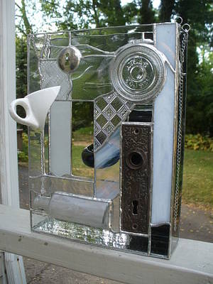 Glass Art - Found Objects  by Karin Thue