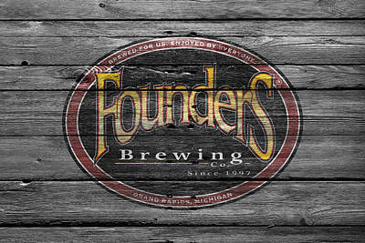 Handcrafted Photograph - Founders Brewing by Joe Hamilton