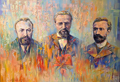 Painting - Founders Of Dashnaktsutyun by Meruzhan Khachatryan