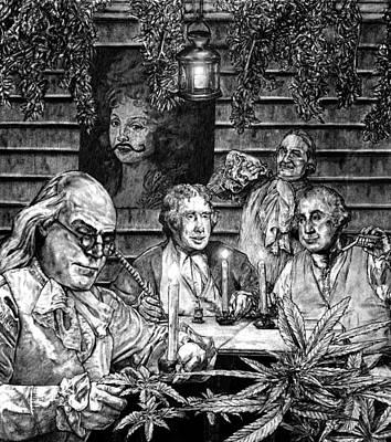 Thomas Jefferson Drawing - Founding Fathers by MH Heintz