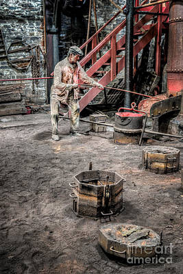 Foundry Worker Art Print by Adrian Evans
