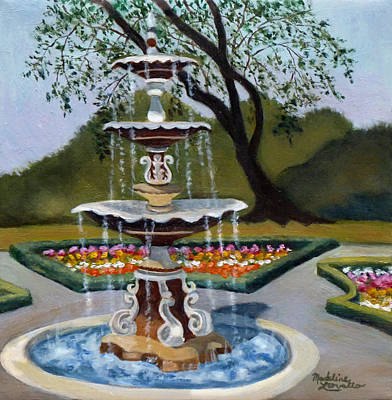 Painting - Fountain At Congress Park by Madeline  Lovallo