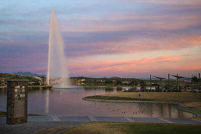 Fountain At Fountain Hills Arizona Art Print