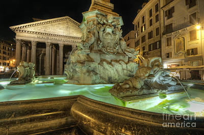 Photograph - Fountain At Pantheon by Yhun Suarez