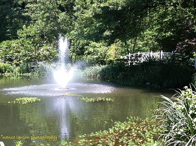 Photograph - Fountain At Sayen Gardens by Nance Larson