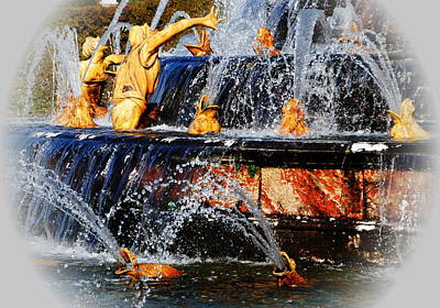 Photograph - Fountain At Versailles by Jacqueline M Lewis