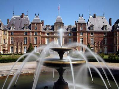 Fountain, Chateau, Eu, Normandy, France Print by Alex Bartel