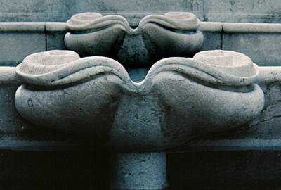 Photograph - Fountain Detail by Ben Kotyuk