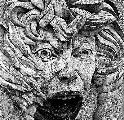 Photograph - Fountain Face by Ethna Gillespie